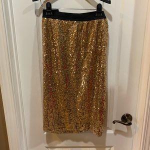 Worthington  Gold Sequin Plus Size XL  Skirt
